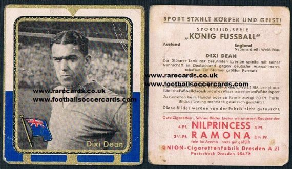 1932 Union Dixie Dean German card